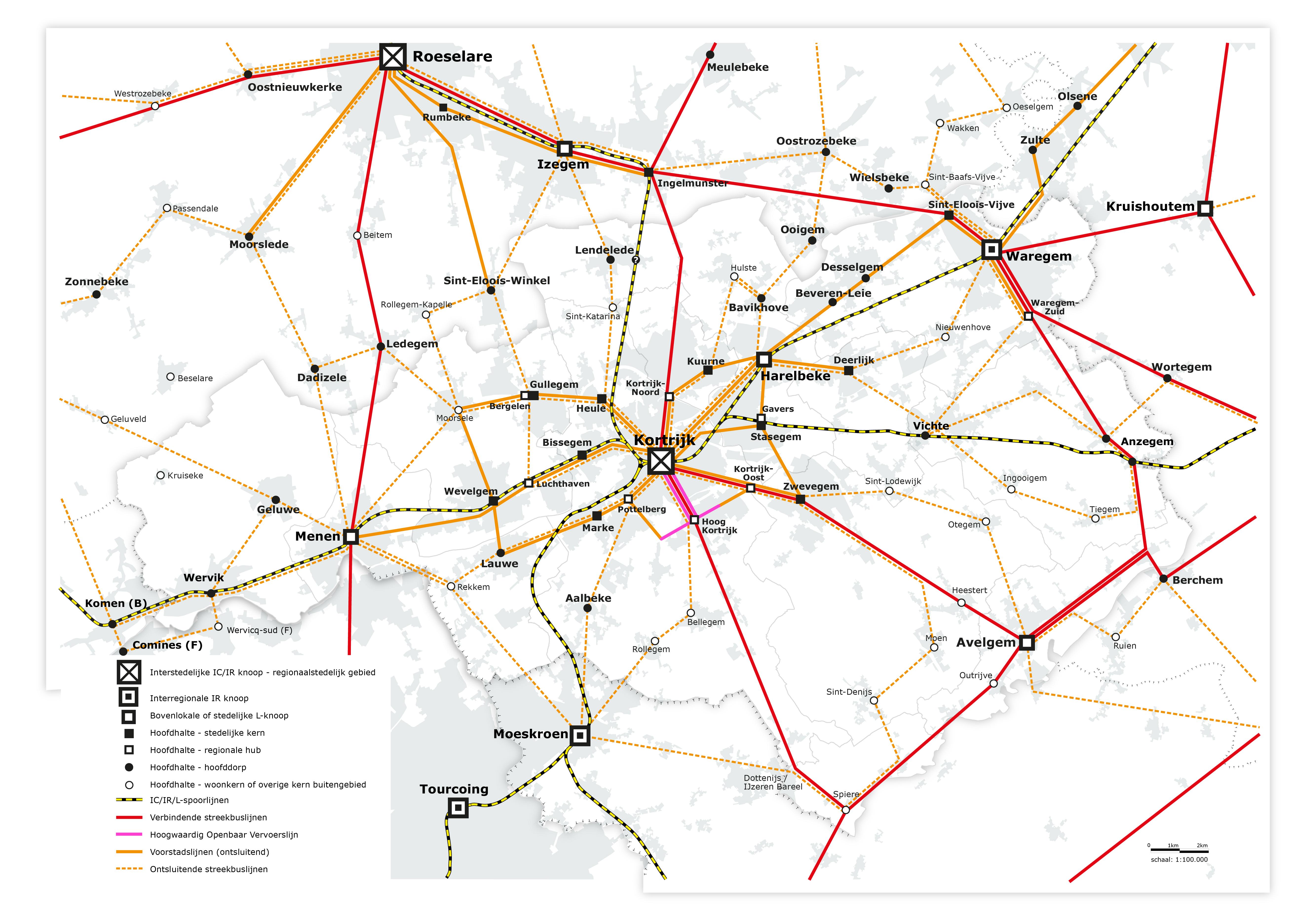 spoorweglijnen regio